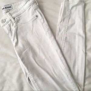 EXPRESS, WHITE DENIM JEANS